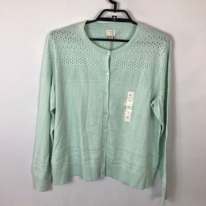 A NEW DAY Button Down Sweater Mint Size XXL NWT